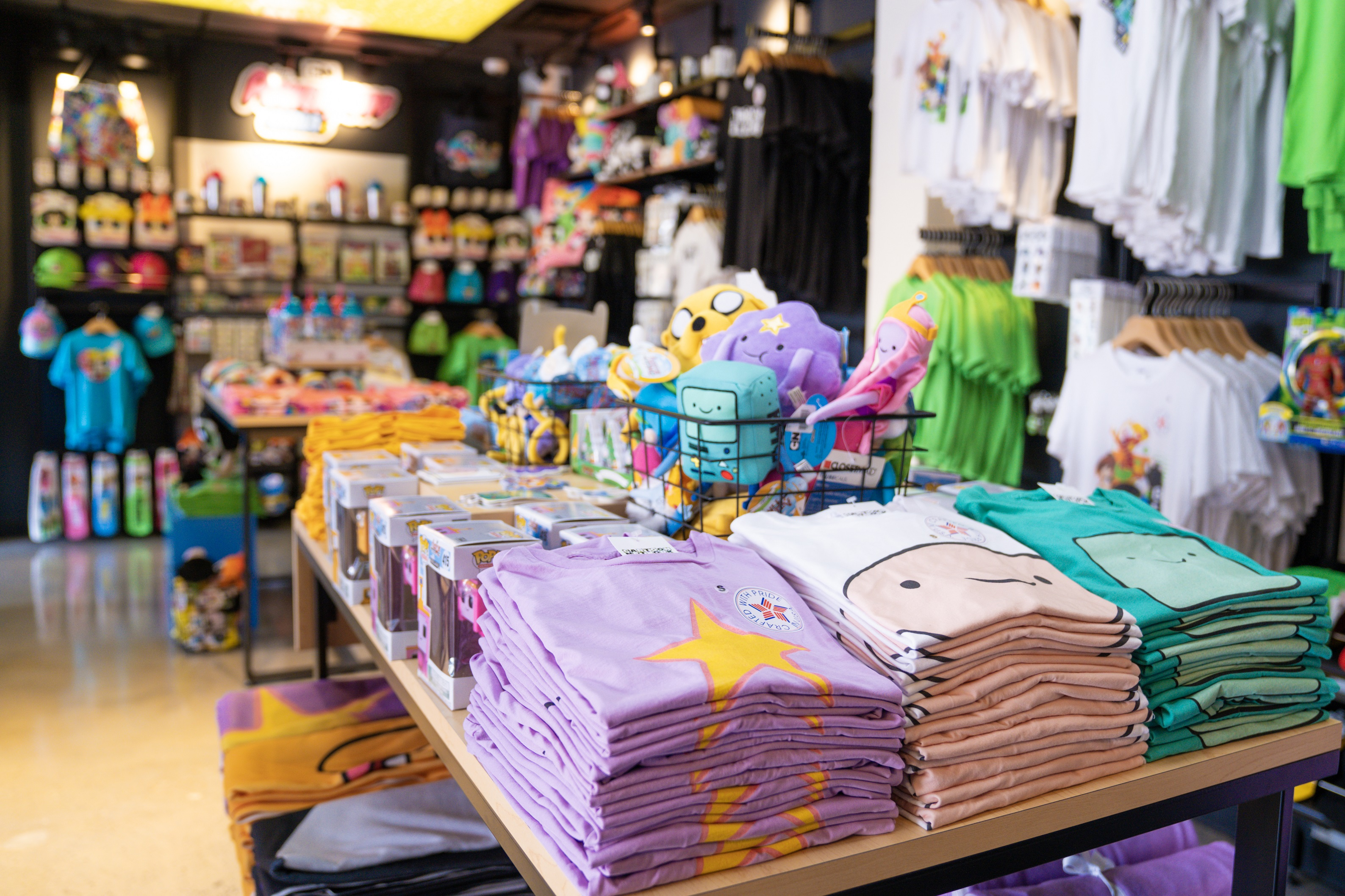 Cartoon Network themed merchandise in the Cartoon Network Store