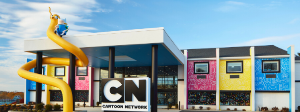 The Cartoon Network Hotel front entrance