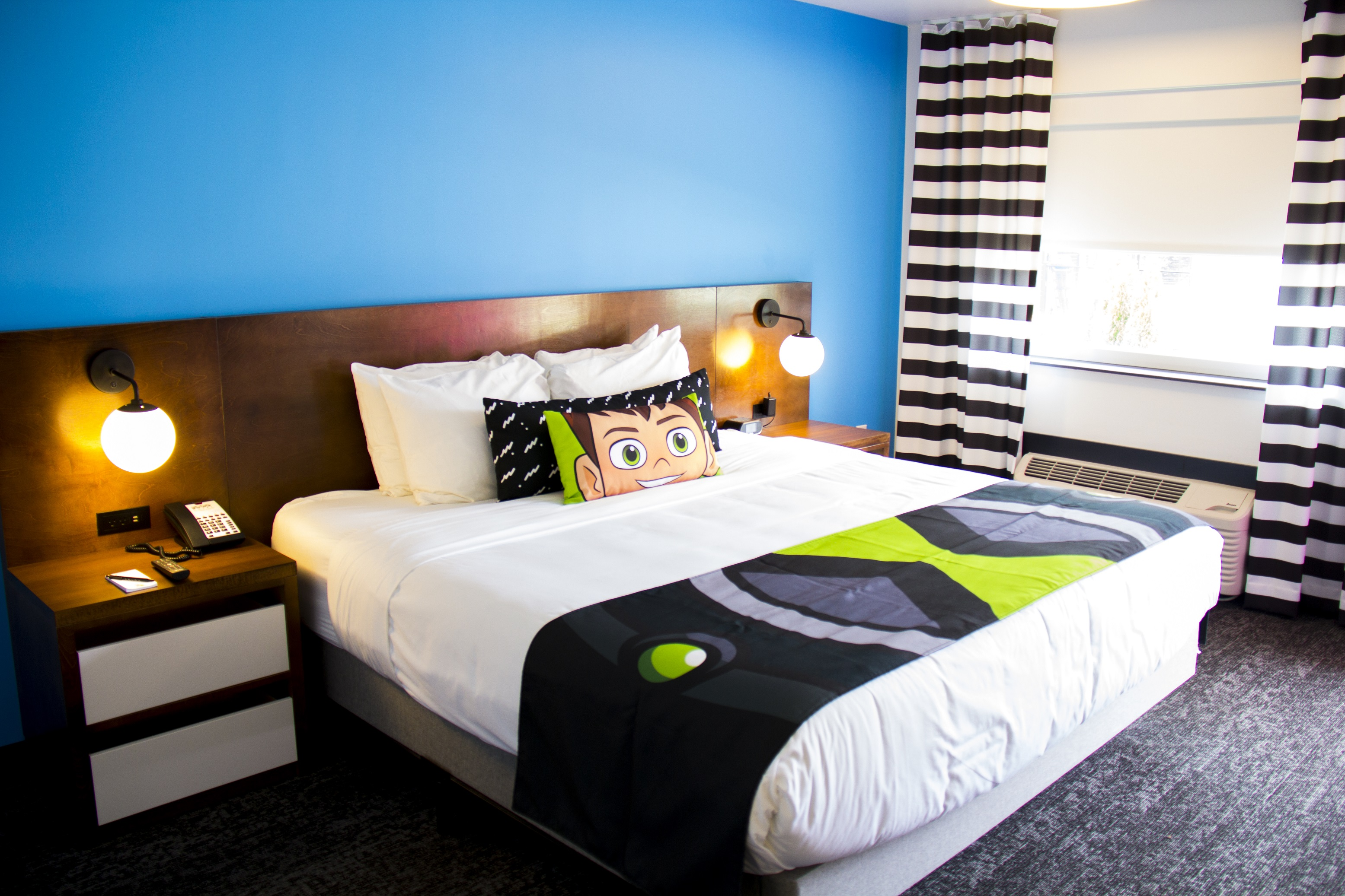 Ben 10 themed king bed room